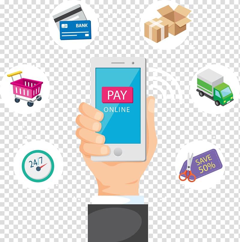 Pay online smartphone application, Digital marketing E.