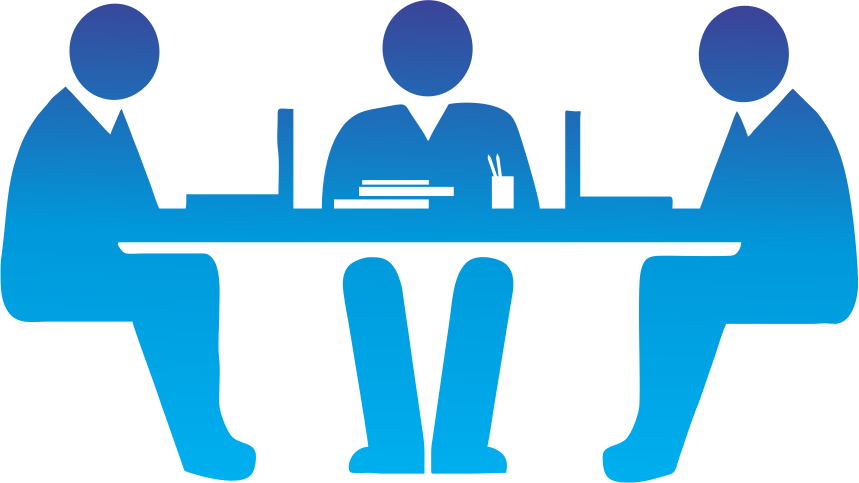 Interview clipart selection process, Interview selection.