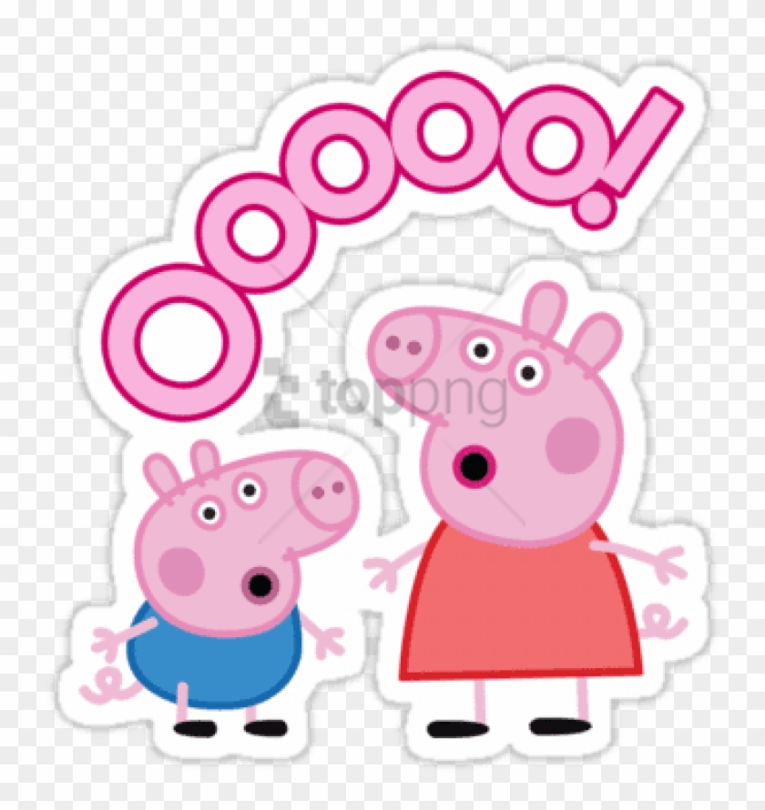 Free Png Download Peppa Pig Ooo Sticker Clipart Png.