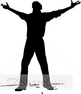 Man with Arms Open to Heaven.