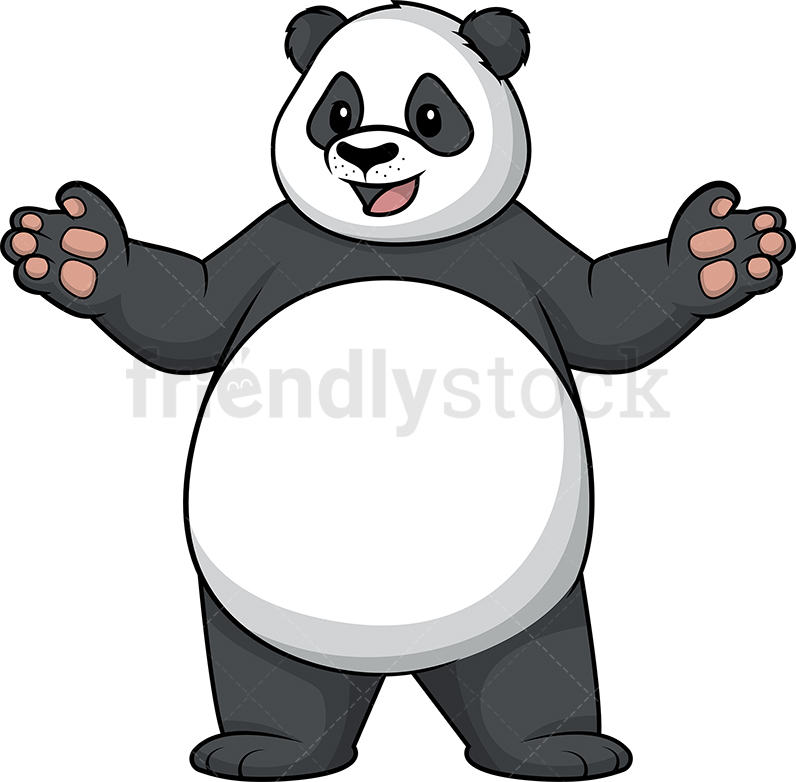 Panda With Open Arms.