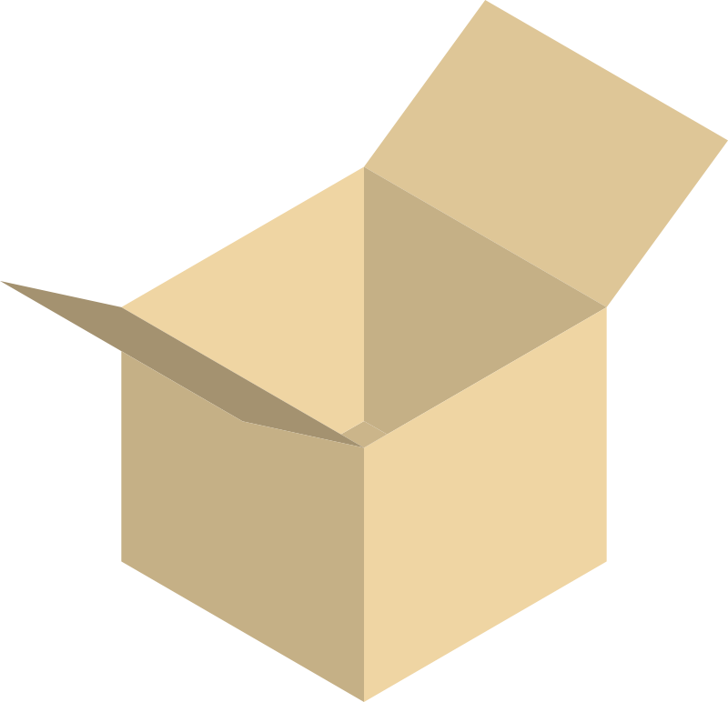 Free Clipart: Open box.