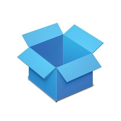 Open Box Template premium clipart.