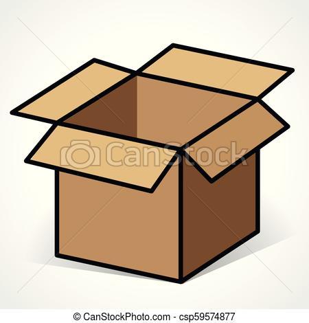 Vector open box design icon.