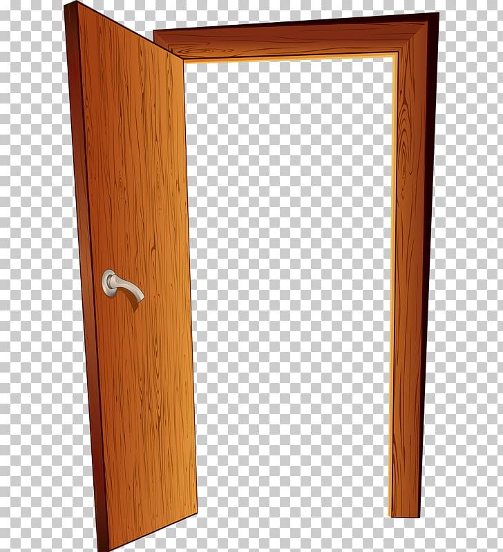 Door , Open the door, brown wooden open door PNG clipart.