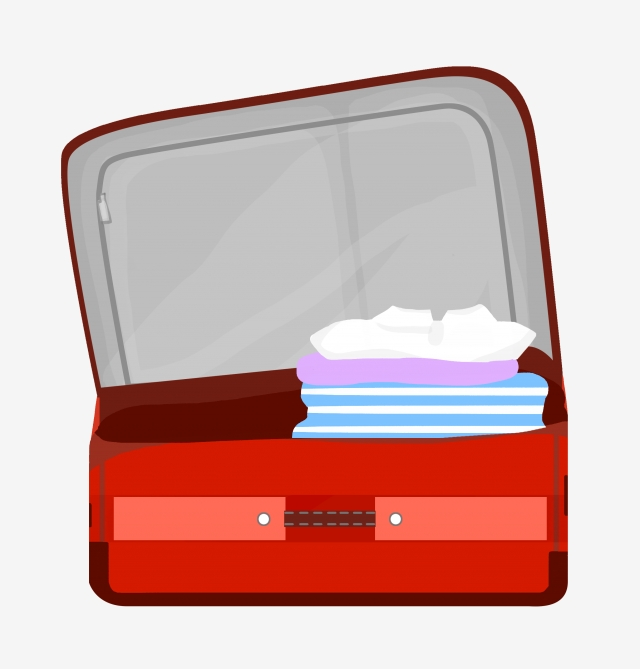 Red Suitcase Open Suitcase Beautiful Suitcase Lovely Suitcase.