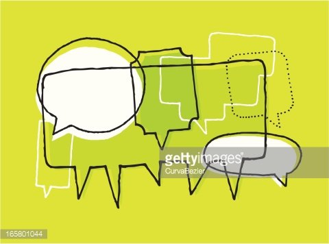 Opinions, discussion and brainstorm\' Clipart Image.