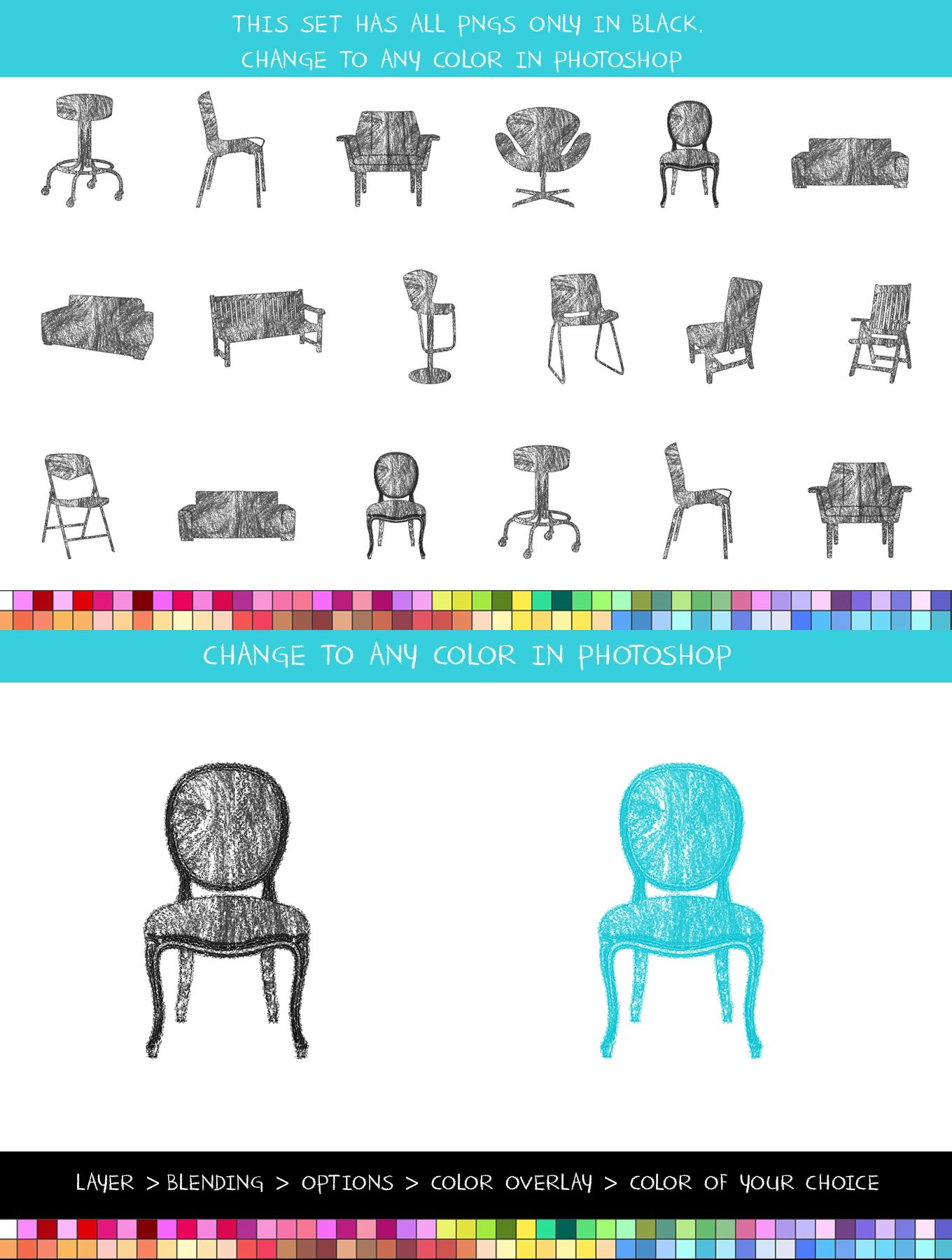 Crayon Furniture, Clipart Commercial use, Furniture clipart.