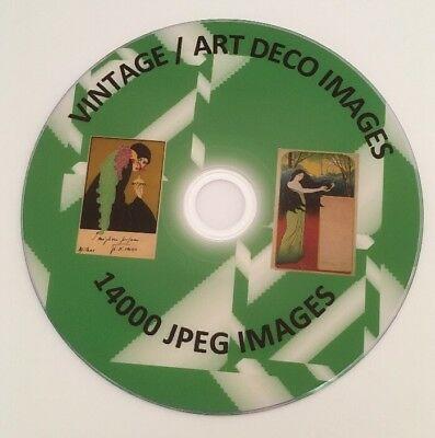 14,000+ VINTAGE ART Deco Jpeg Clipart Images Backgrounds.