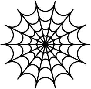 Spider web stencil clipart.