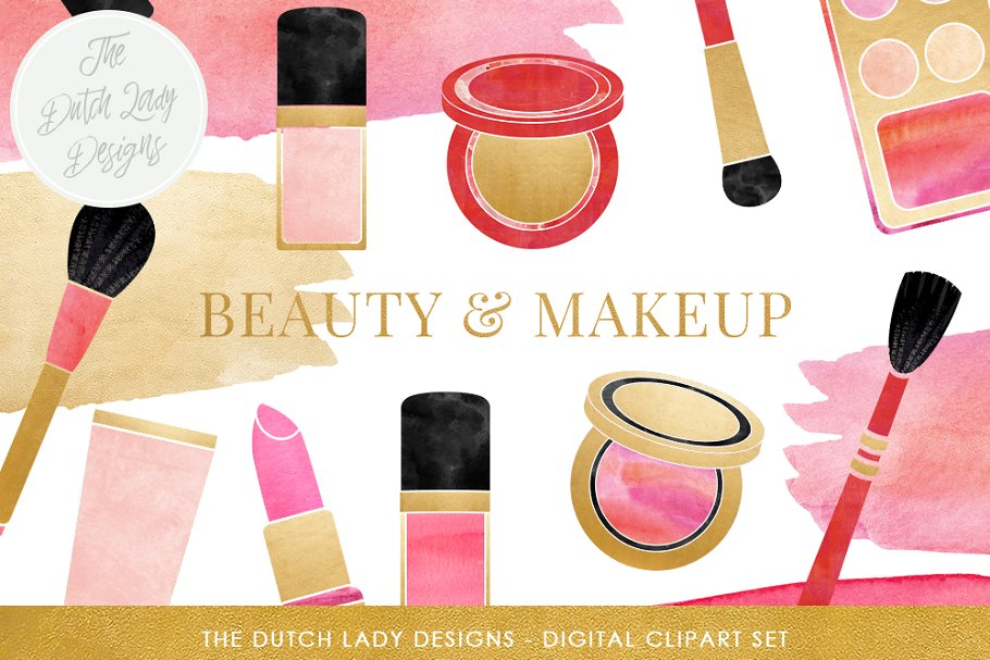 Makeup & Beauty Clipart Set ~ Illustrations ~ Creative Market.