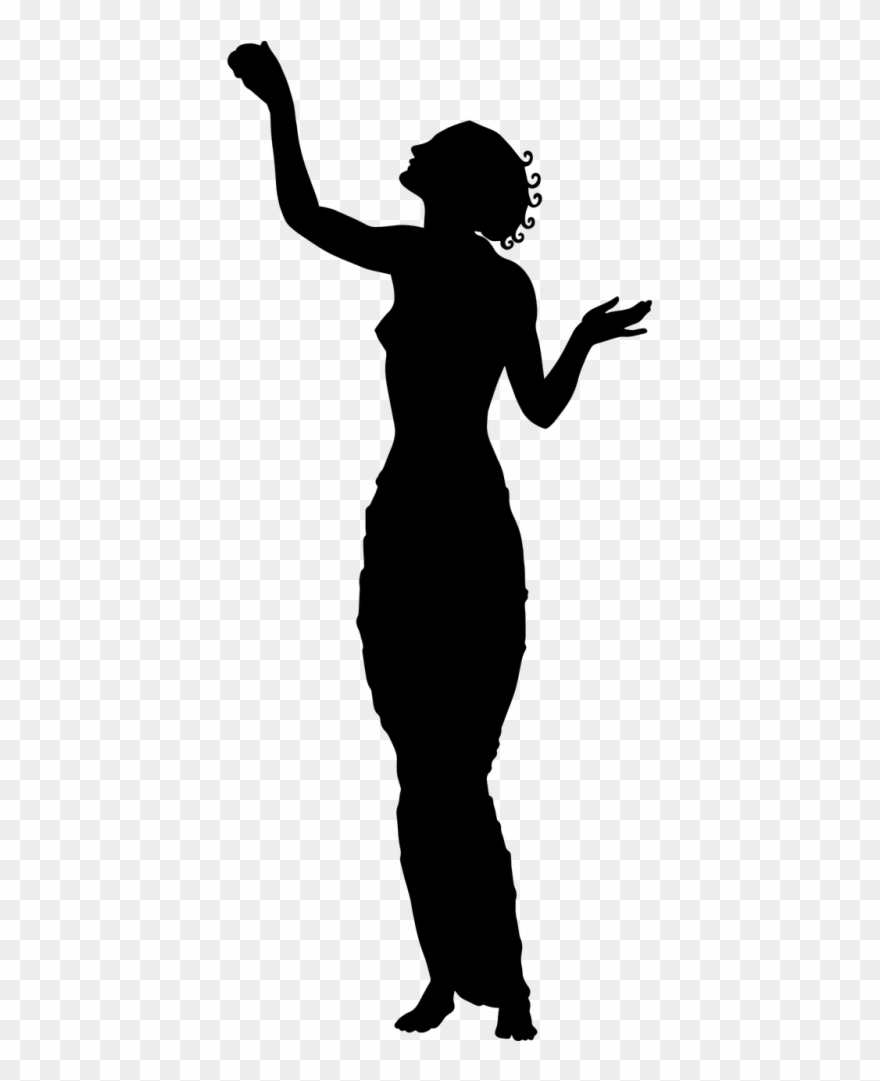 Silhouette,woman,female.
