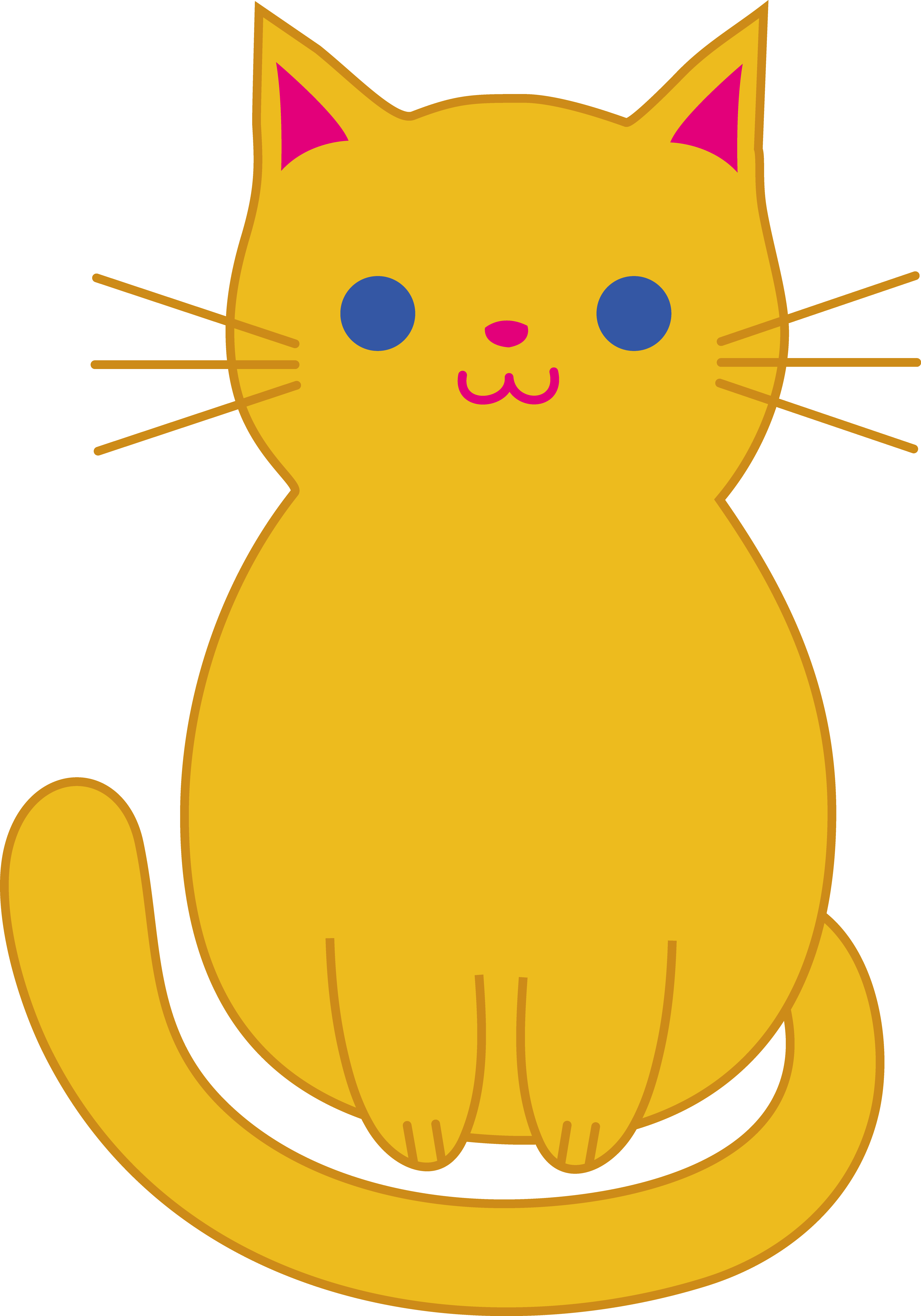 Cute Orange Cat Free clipart free image.