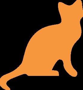 Orange Cat Silhouette clip art.