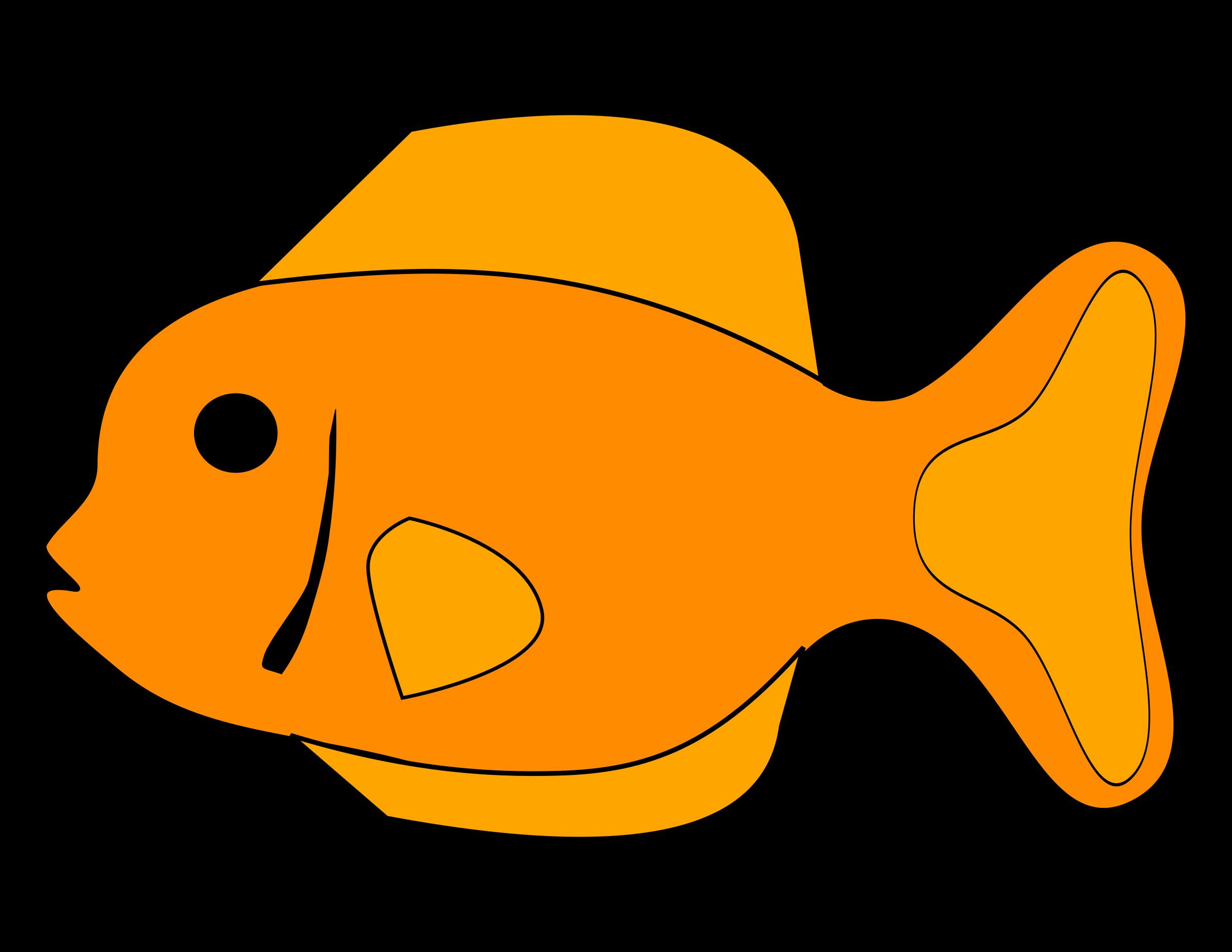 Orange clipart fish, Orange fish Transparent FREE for.