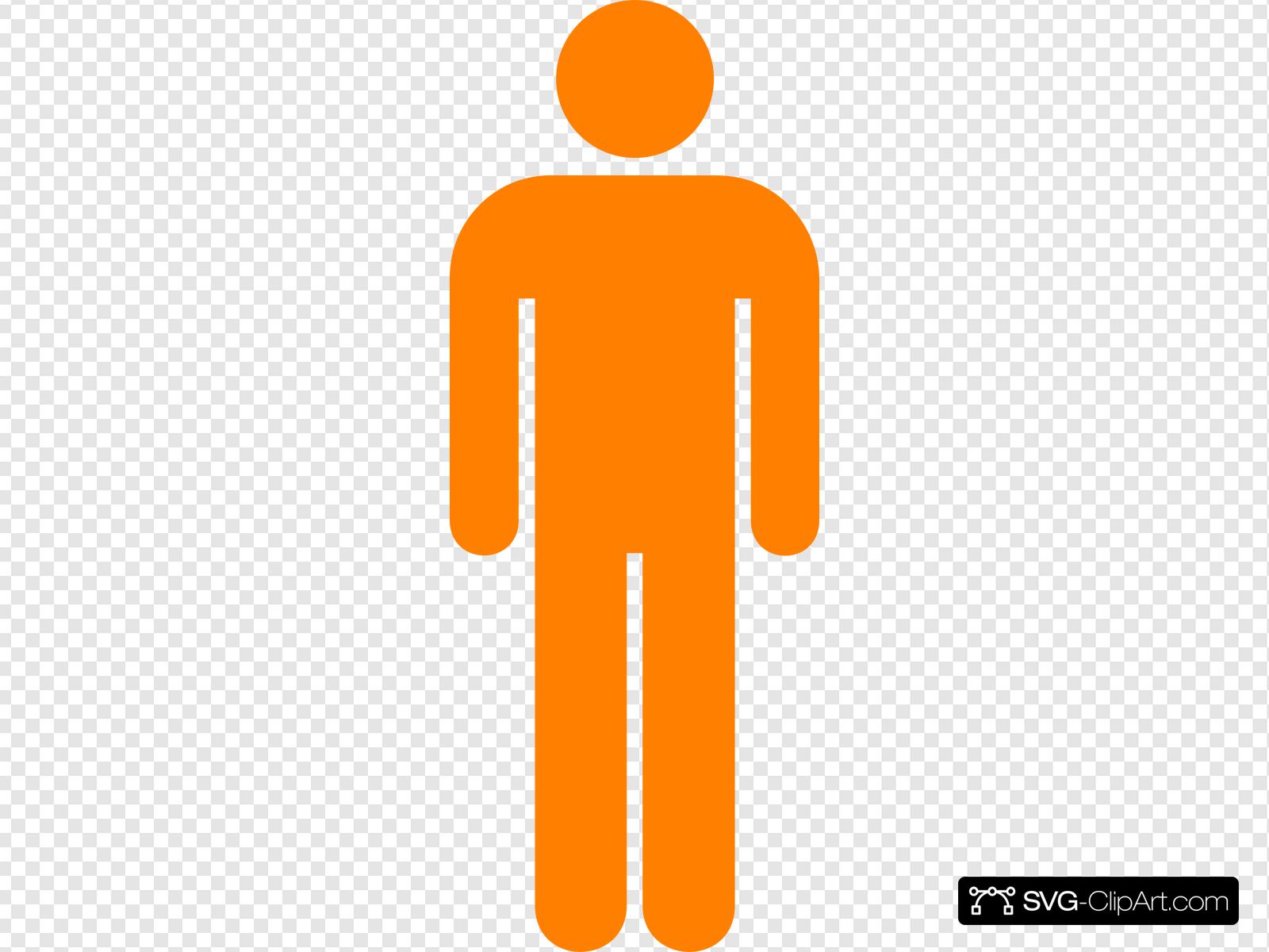 Orange Man Md Clip art, Icon and SVG.