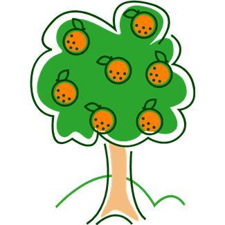 Free Orange Tree Cartoon, Download Free Clip Art, Free Clip.