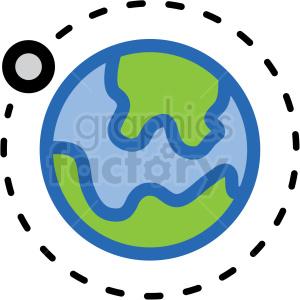 orbit earth vector icon . Royalty.