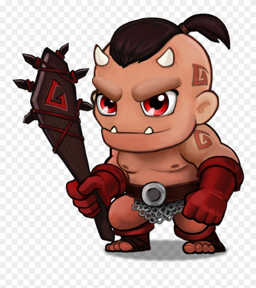 Flame Orc Clipart (#3034443).
