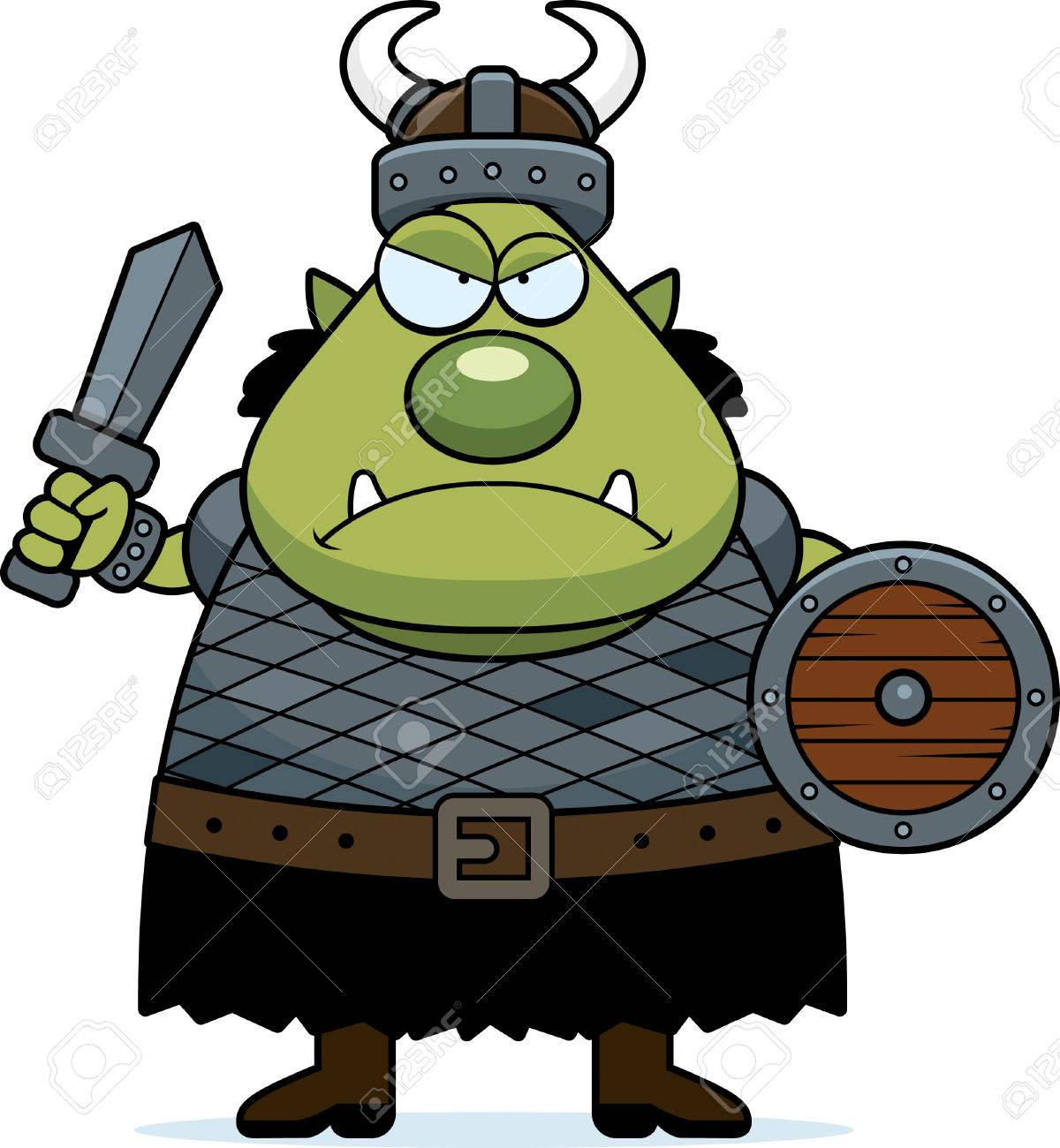 Angry Cartoon Orc » Clipart Station.
