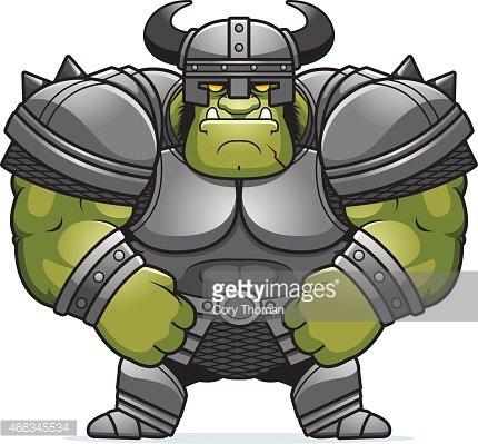 Cartoon Orc Armor Clipart Image.