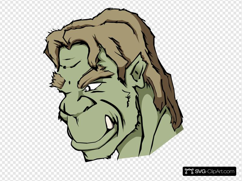 Orc Clip art, Icon and SVG.