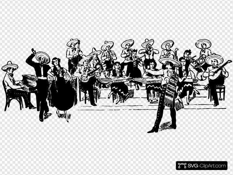 Orchestra Tipica Clip art, Icon and SVG.