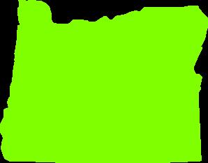 Oregon State Lime Green Clip Art at Clker.com.
