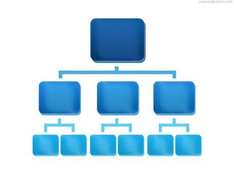 Organization chart icon (PSD), free vector.