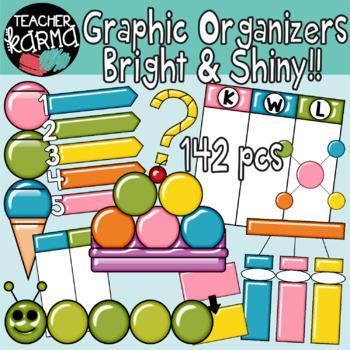 Graphic Organizers Clipart BUNDLE.