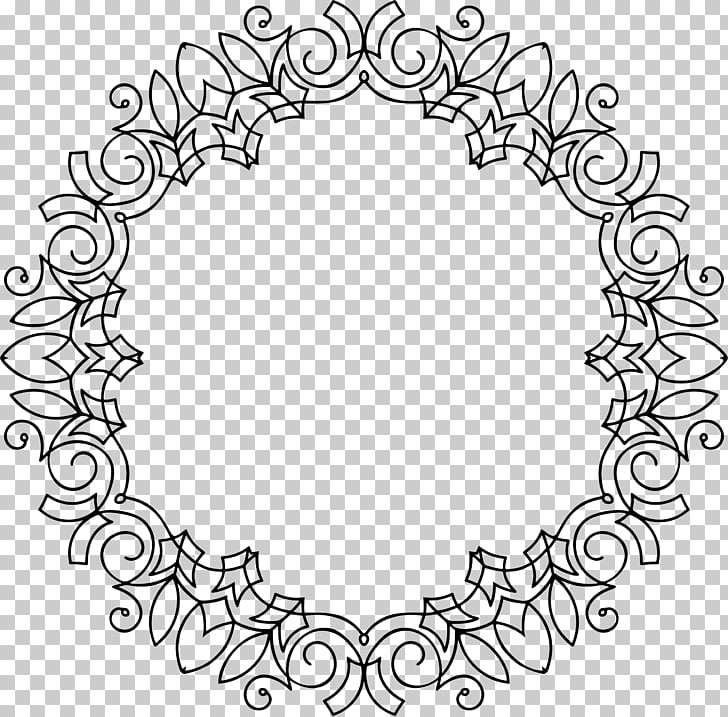 Ornament , continental circular border ornamentation PNG.