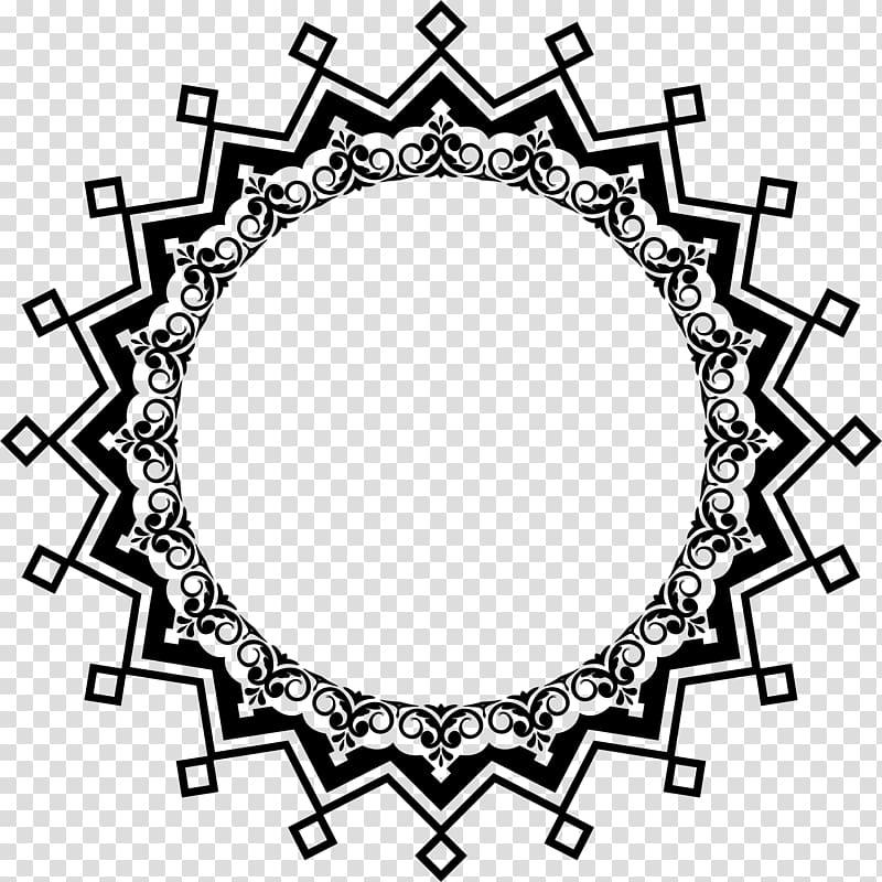 Art , continental circular border ornamentation transparent.