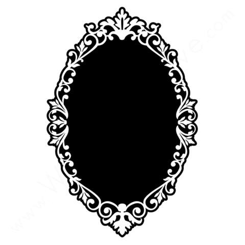 oval vintage frames.