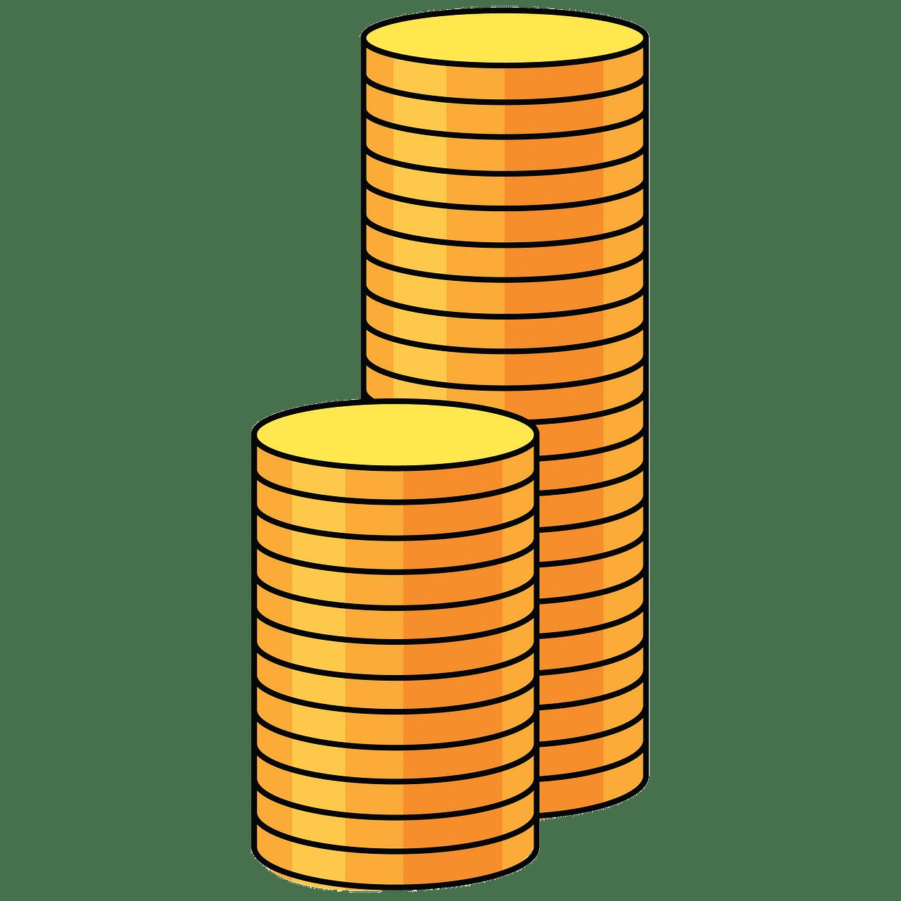 Monedas de oro clipart. Dibujos animados descargar gratis.