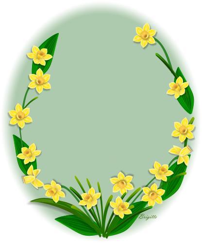 Clipart Daffodil by Brigitte.