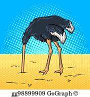 Ostrich Head In Sand Clip Art.