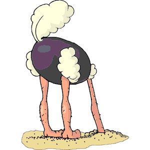 Ostrich Head Out of Sand clipart, cliparts of Ostrich Head Out of.