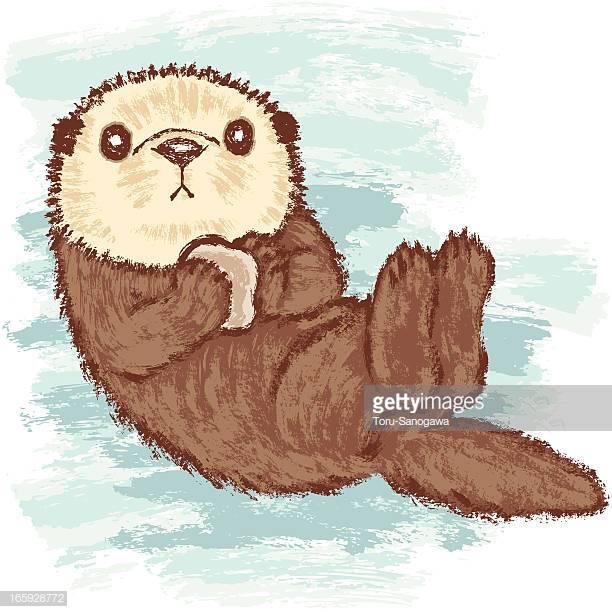 26 Sea Otter Stock Illustrations, Clip art, Cartoons & Icons.