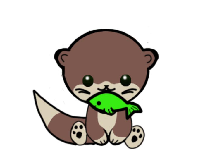 Baby Otter Clipart.