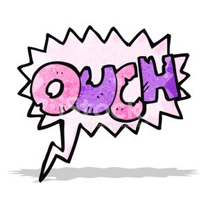 comic book ouch sign Clipart Image.