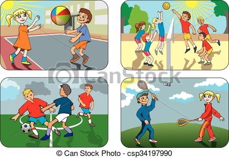 clipart outdoor games - Clipground