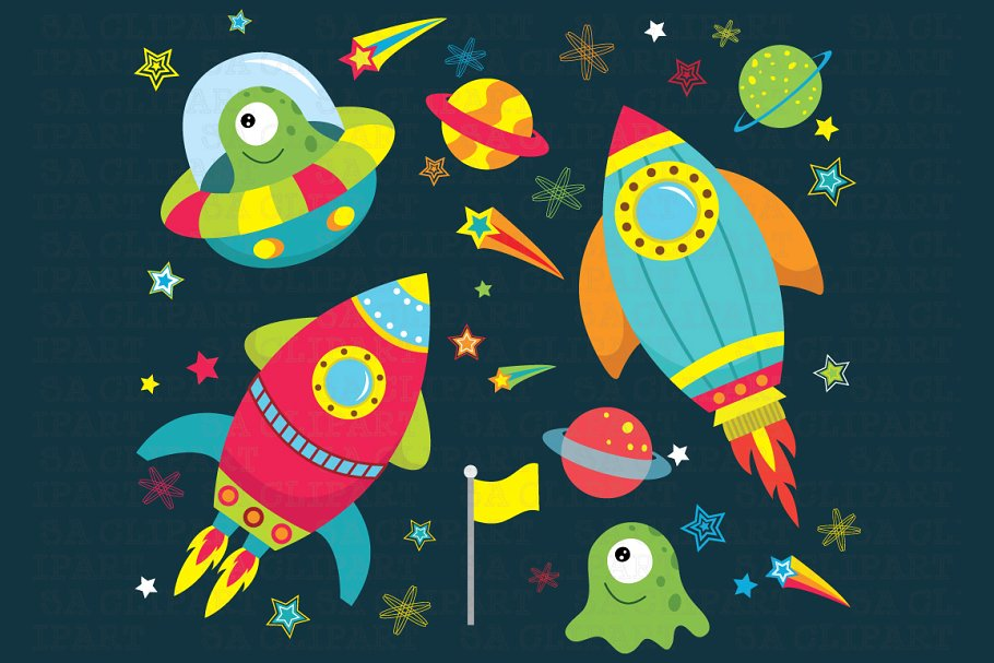 Outer space clipart.