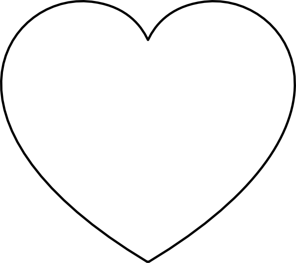 Heart Outline Clip Art at Clker.com.