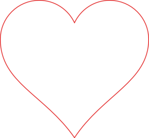 Heart outline red clip art at vector clip art.