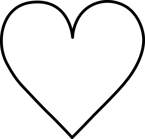 Heart Outline Clipart Black And White.