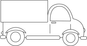 Pickup truck clipart outline free clipart images image #39275.