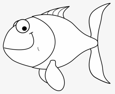 Free Fish Outline Clip Art with No Background.