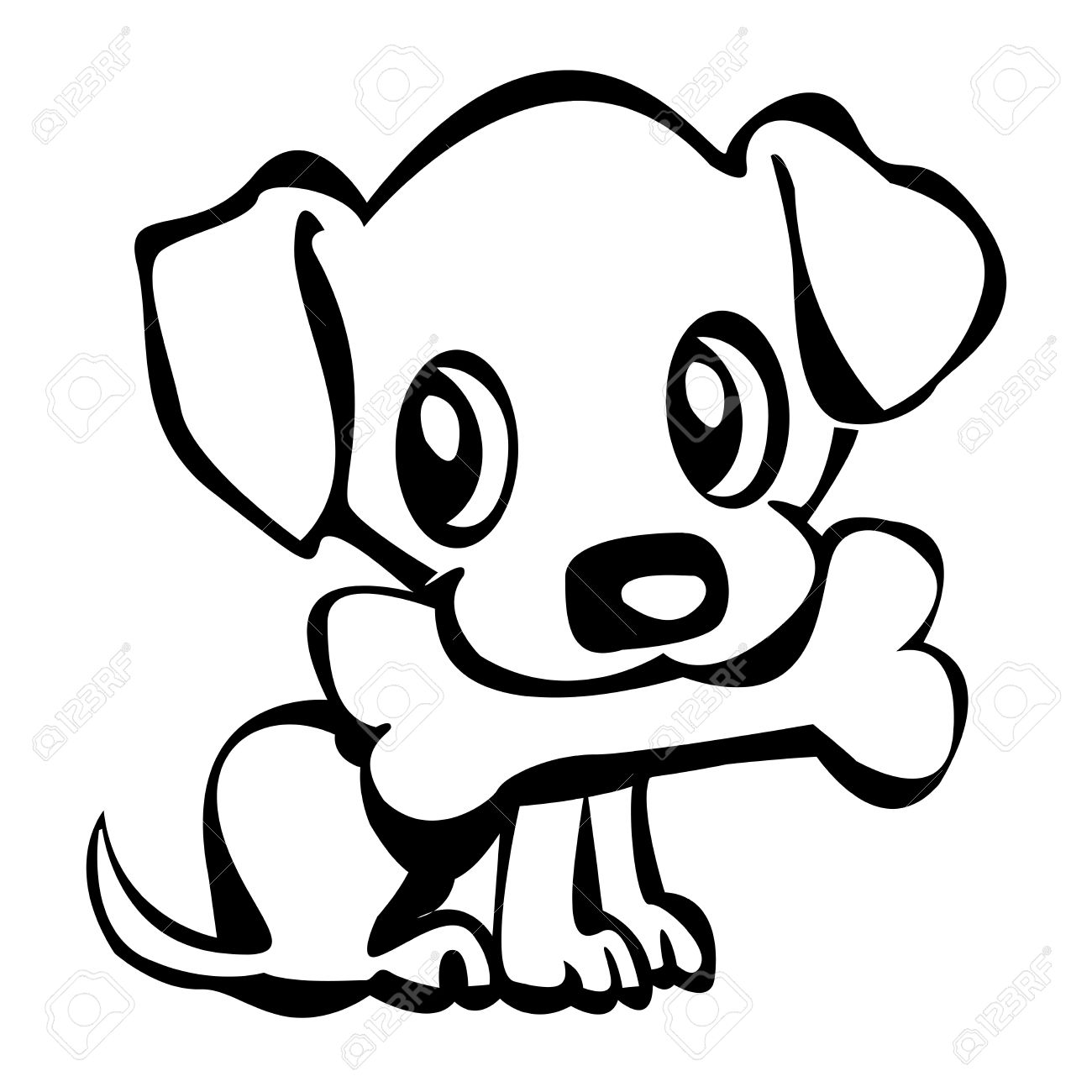 Puppies Outline With Puppy Outline Clipart : Puppies Outline.