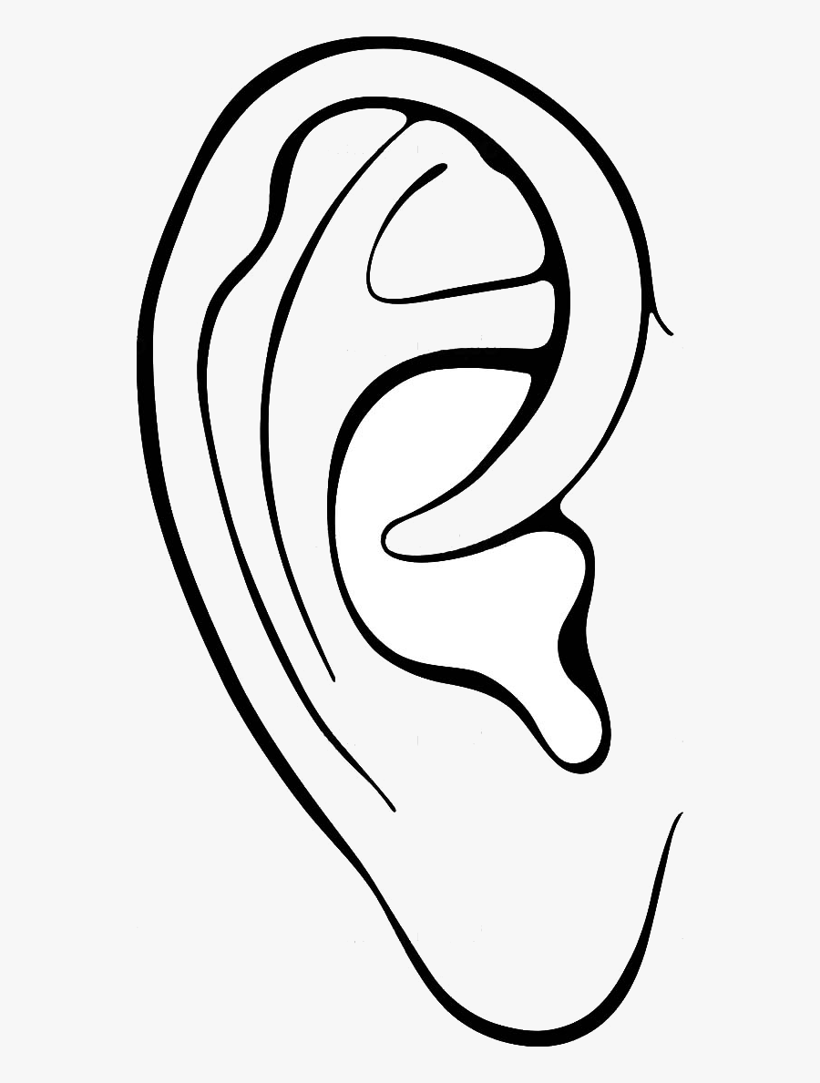 Ear Outline Clip Art.