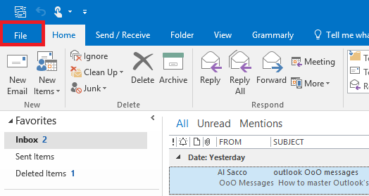 How to master Outlook's out.